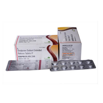 Eriprox ER 250   Divalproex Sodium Extended-Release 250MG