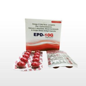 Omega 3Fatty Acid, Lycopene Zinc, Cyanocobalamin, Calcium L-ascorbate, Mixed Carotenoids & Gingko Biloba