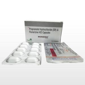 Propranolol hydrochloride (SR) flunarizine HCI