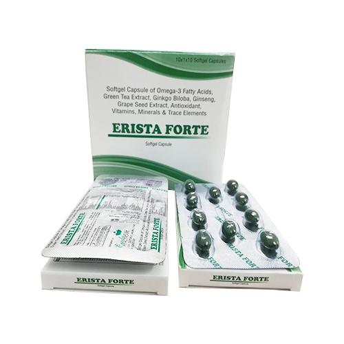 3 Fatty acids, Green Tea Extract, Ginkgo Biloba, Ginseng. Grape Seed Extract, Antioxidant, Vitamins, Minerals & Trace Elements